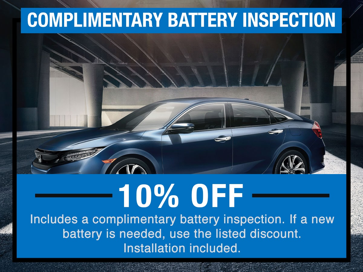 Battery Inspection Service Specials Coupon