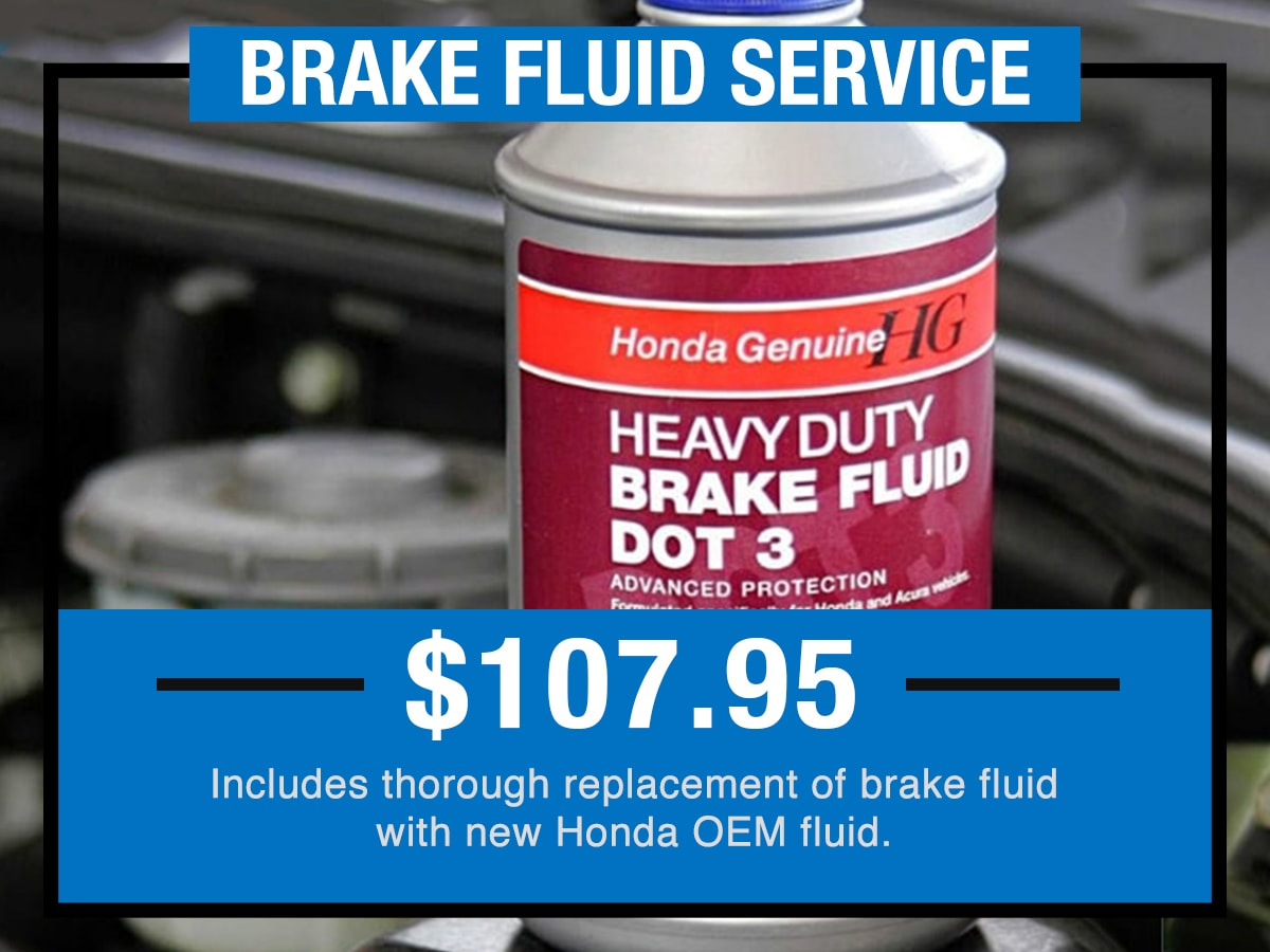 Tom Wood Honda Service Specials Coupon Brake Fluid Service of Anderson, IN