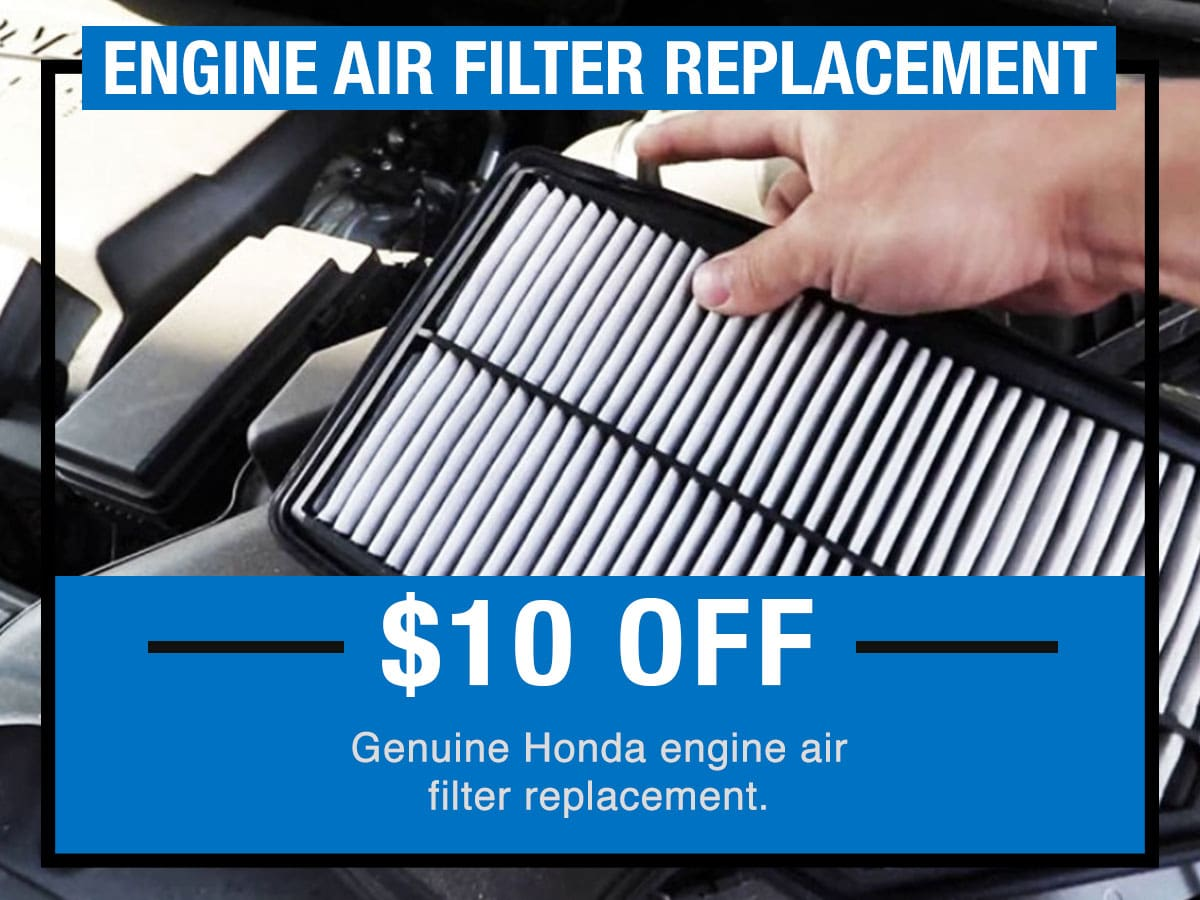 Tom Wood Honda Service Specials Coupon Engine Air Filter Replacement of Anderson, IN