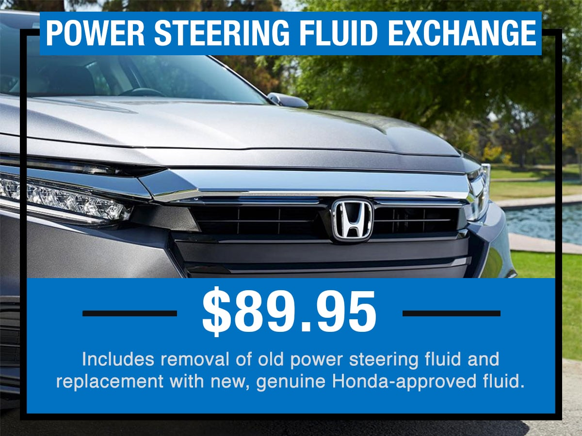 Power Steering Fluid Exchange Service Special Coupon