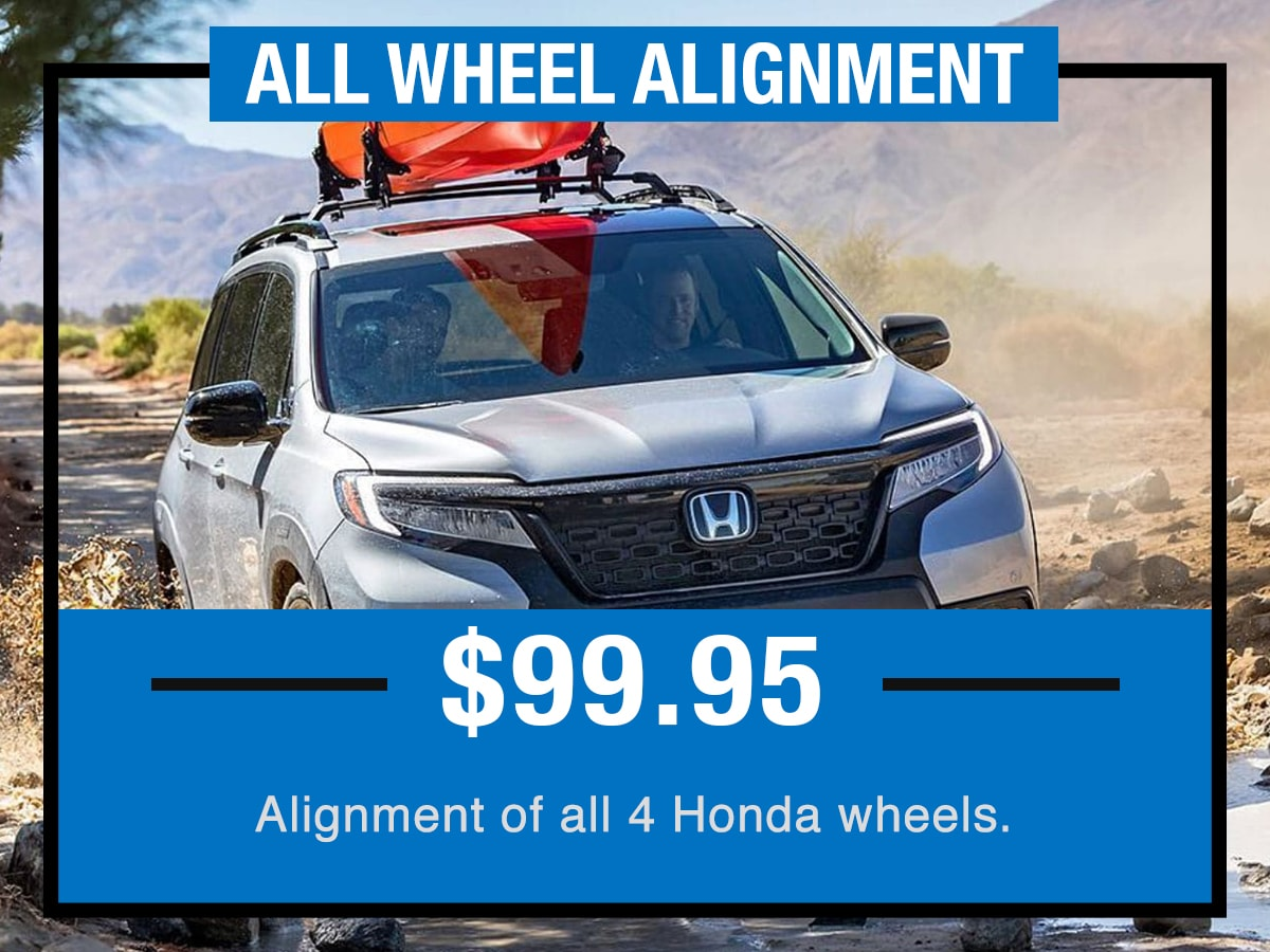 Tom Wood Honda Service Specials Coupon All Wheel Alignment of Anderson, IN