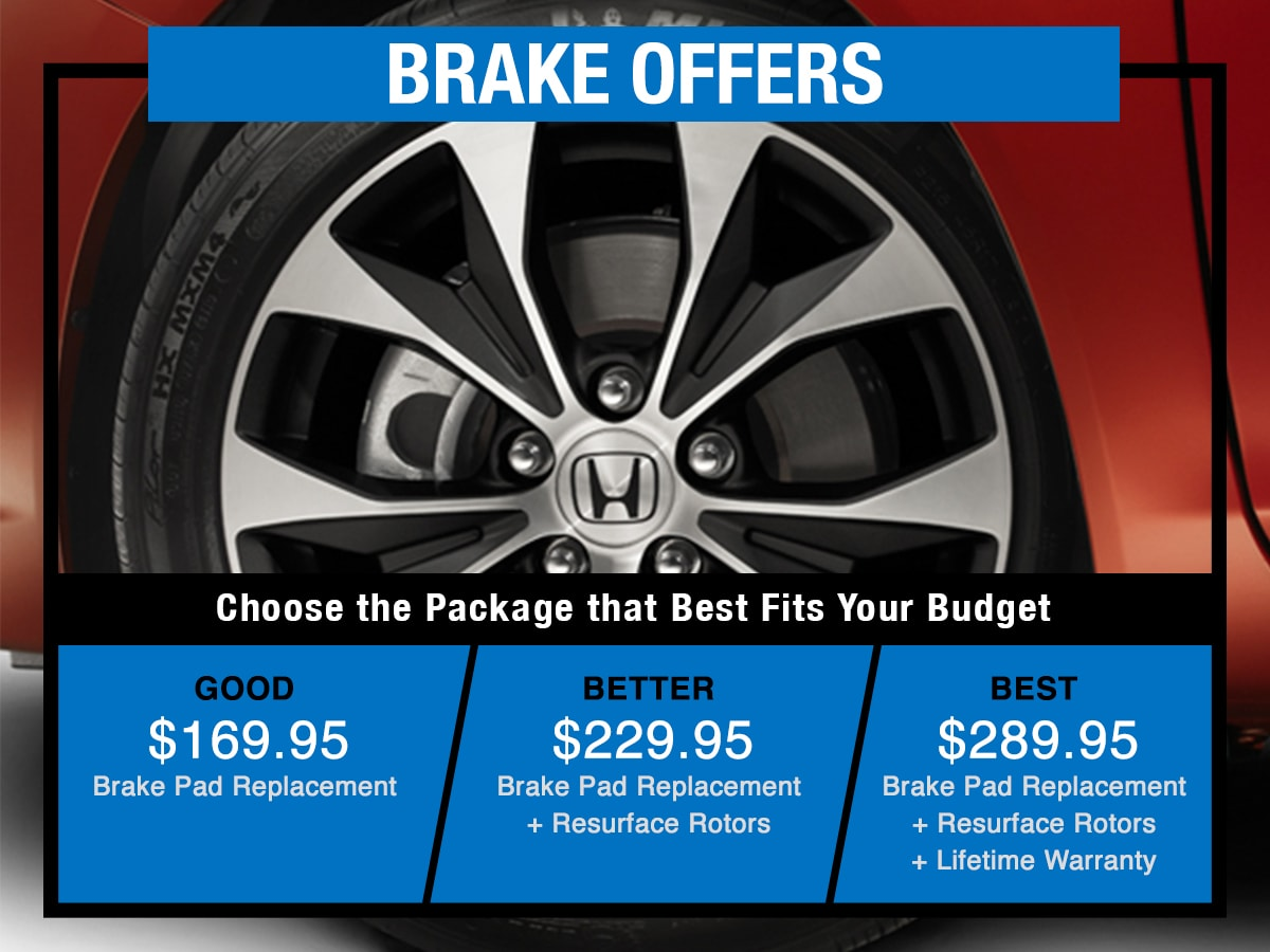 Tom Wood Honda Service Specials Coupon Brake Offers of Anderson, IN
