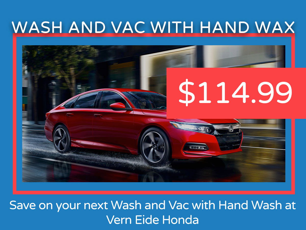 Wash and Vac with Hand Wax Service Coupon