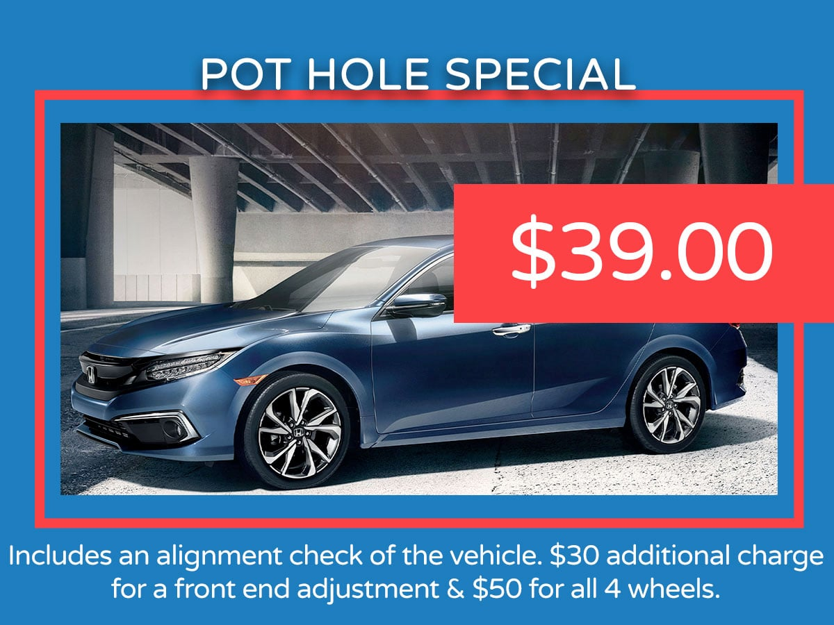 Honda Pot Hole Service Coupon