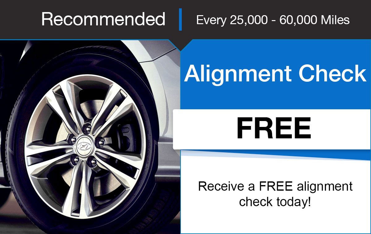Hyundai Alignment Check Service Special Coupon