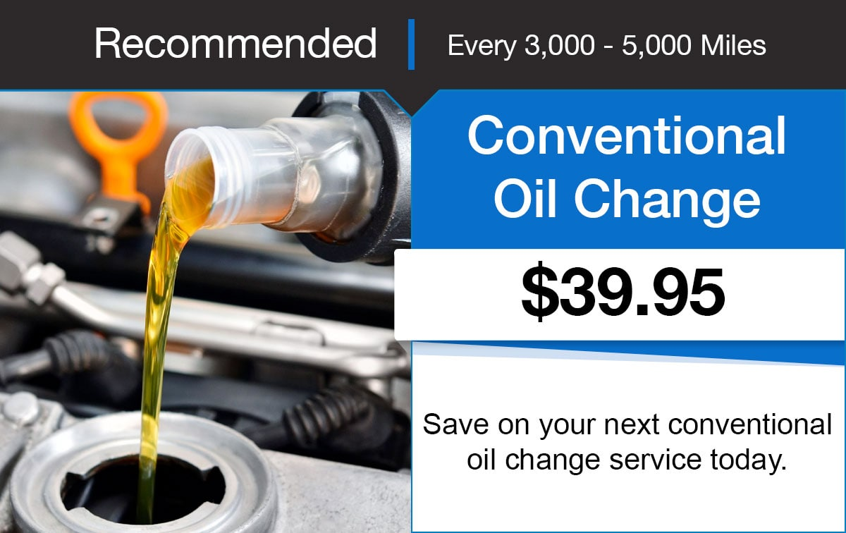 Hyundai Conventional Oil Change Service Special Coupon
