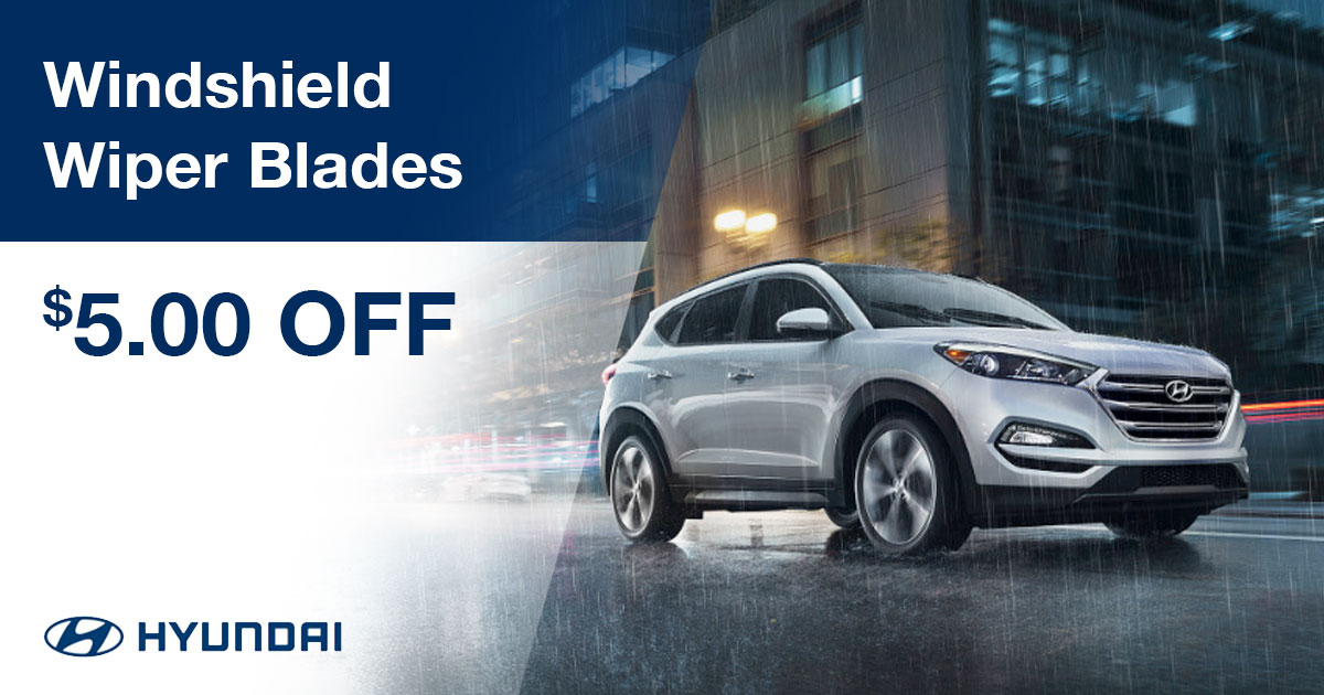 Hyundai Wiper Blade Replacement Special Coupon