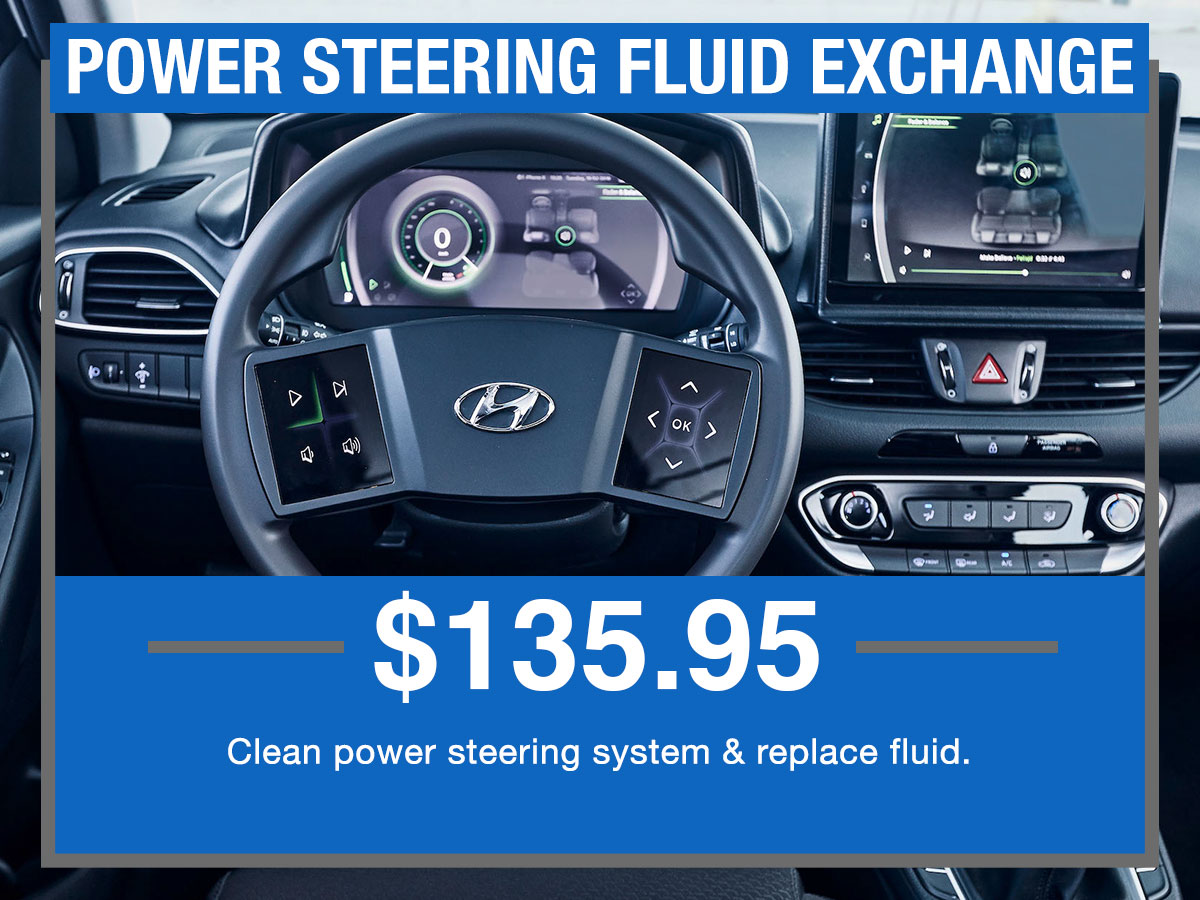 Power Steering Fluid Flush Service Special Coupon