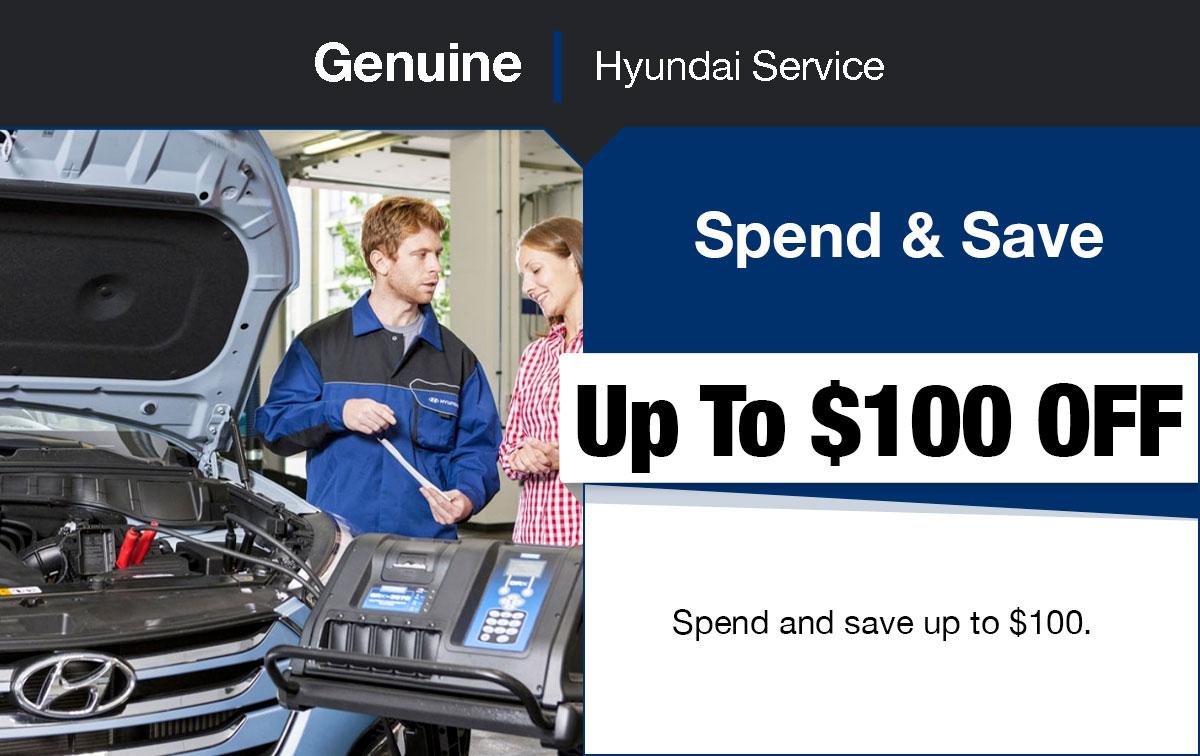 Hyundai Spend & Save Service Special Coupon