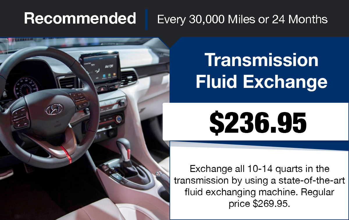 Hyundai Transmission Fluid Exchange Service Special Coupon