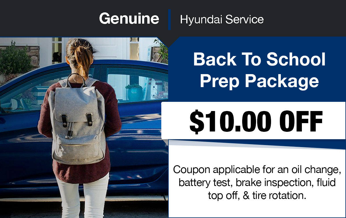 Hyundai Back To School Service Special Coupon