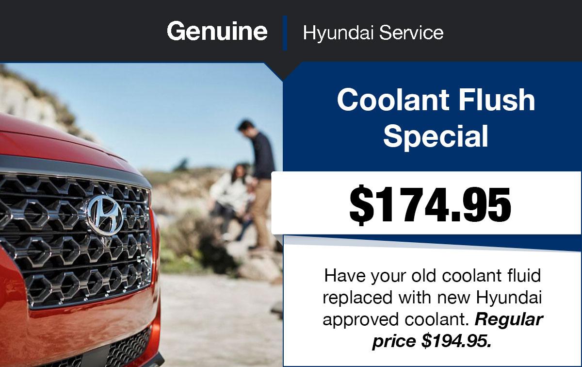 Hyundai Coolant Flush Service Special Coupon