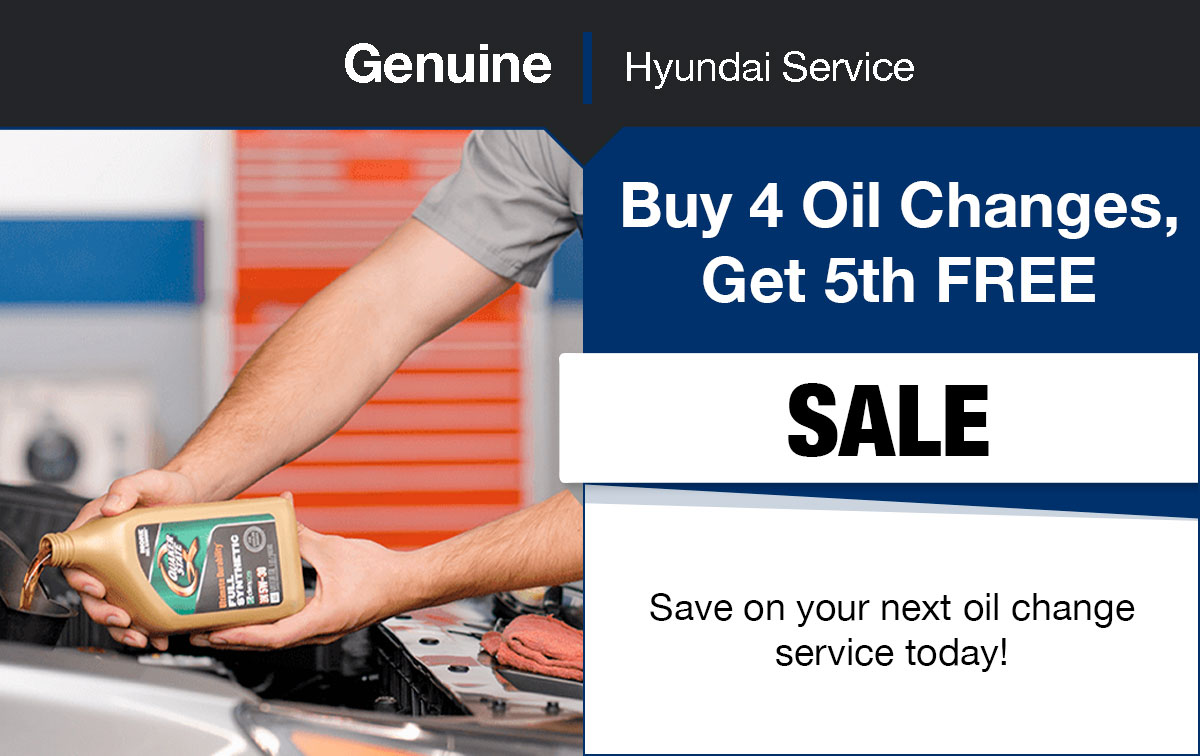 Hyundai Oil Change Service Special Coupon