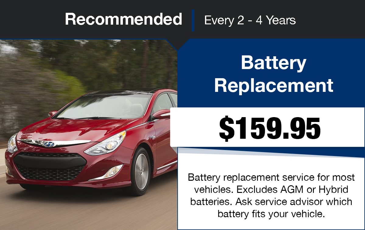 Hyundai Battery Replacement Service Special Coupon
