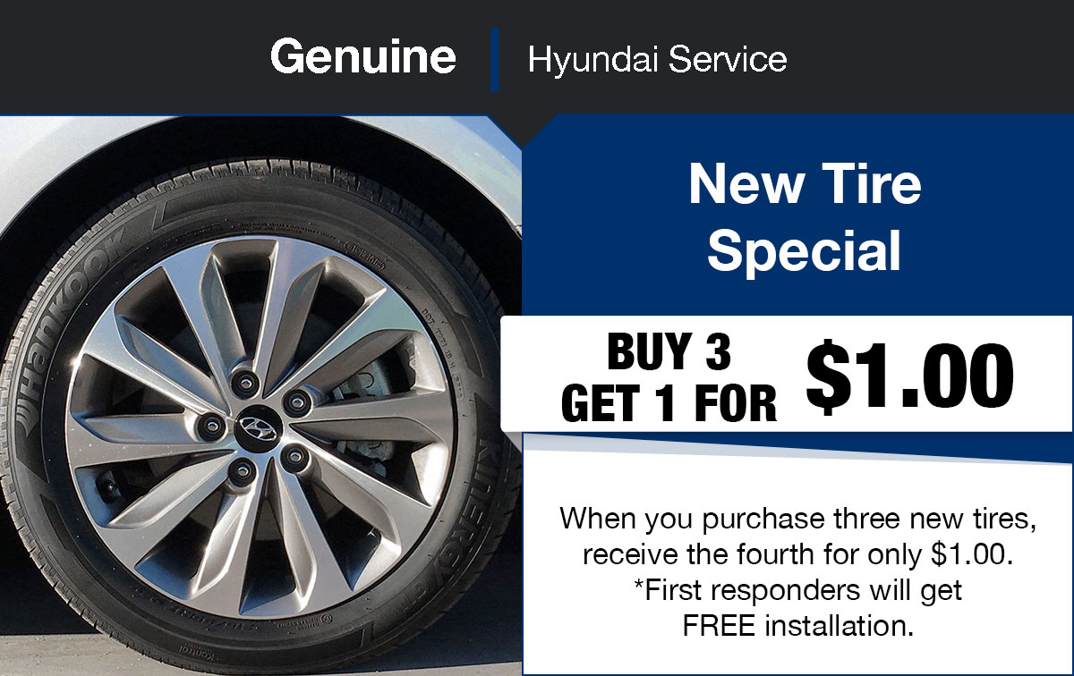 Hyundai New Tire Service Special Coupon