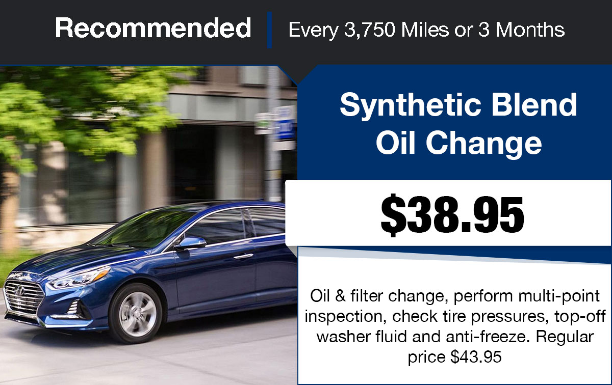 Hyundai Synthetic-Blend Oil Change Service Special Coupon