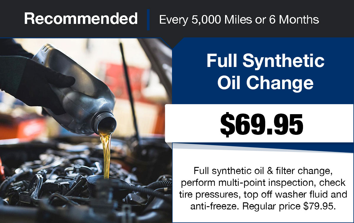 Hyundai Full Synthetic Oil Change Service Special Coupon