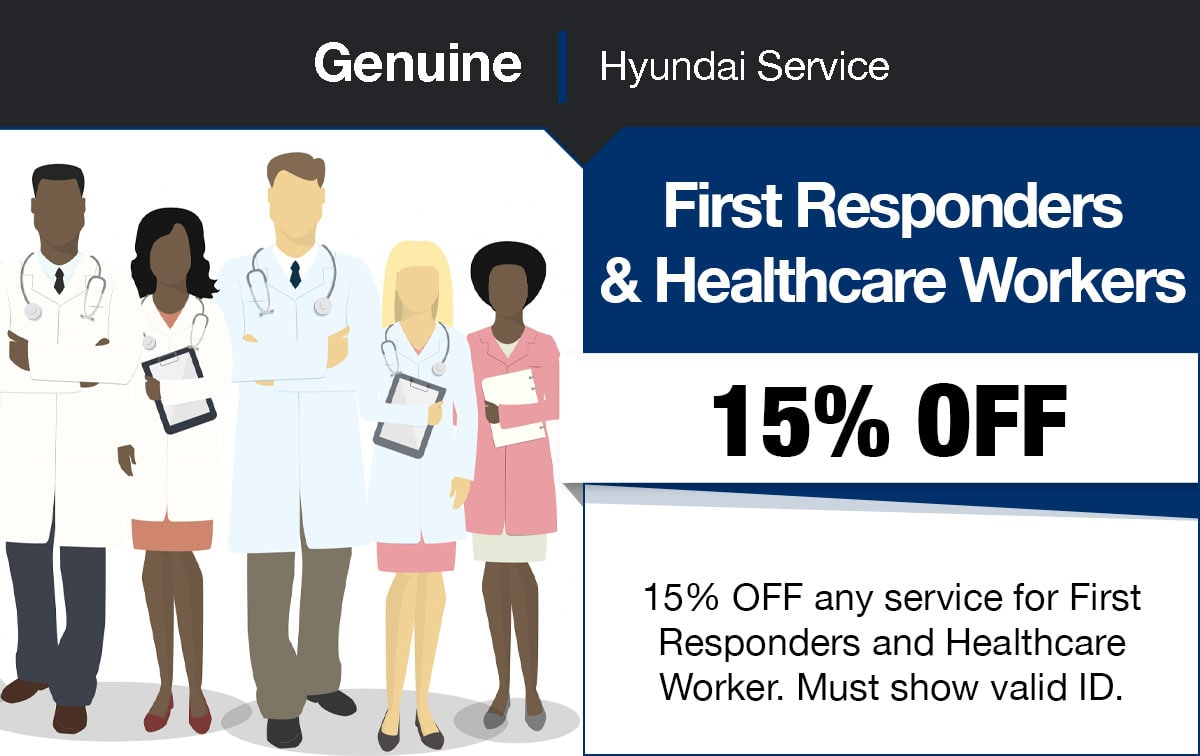 Hyundai First Responders & Healthcare Workers Service Special Coupon