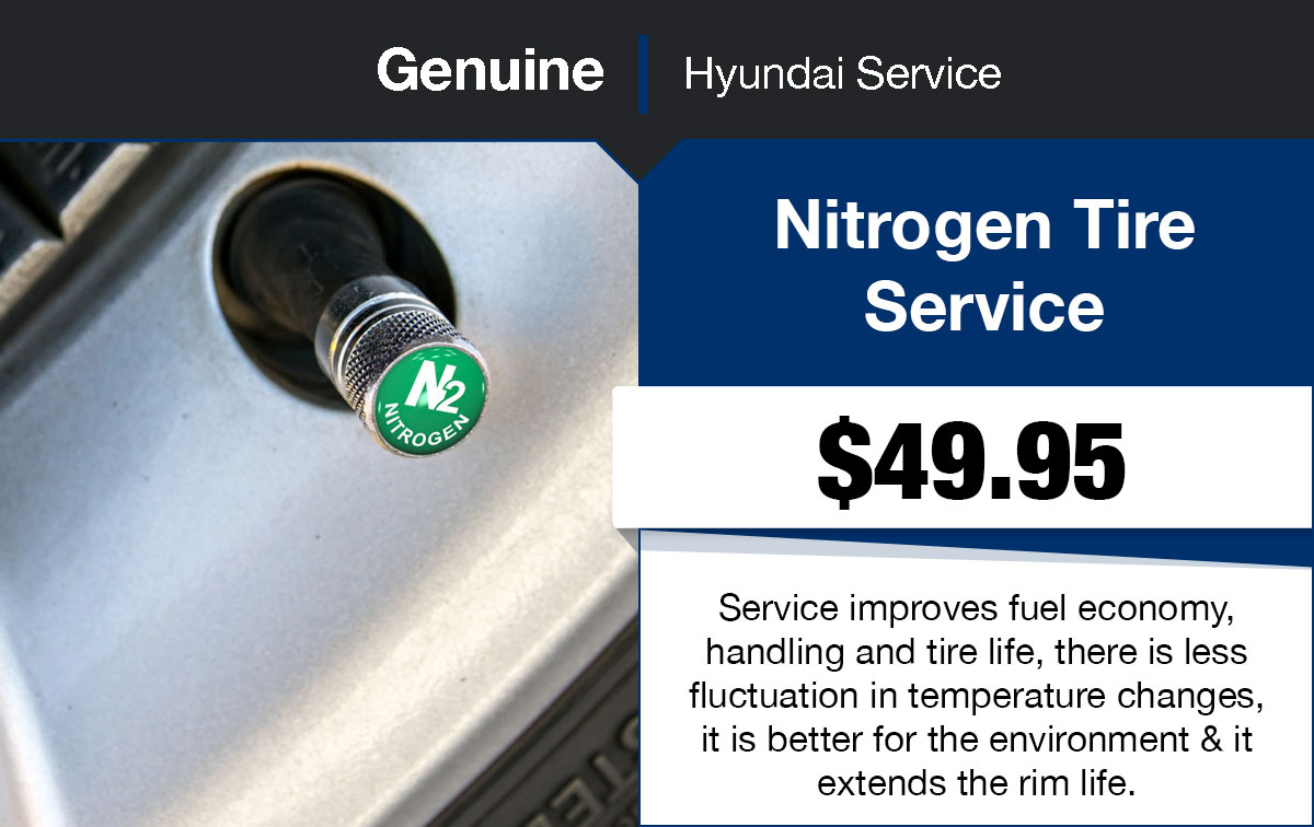 Hyundai Nitrogen Tire Service Special Coupon