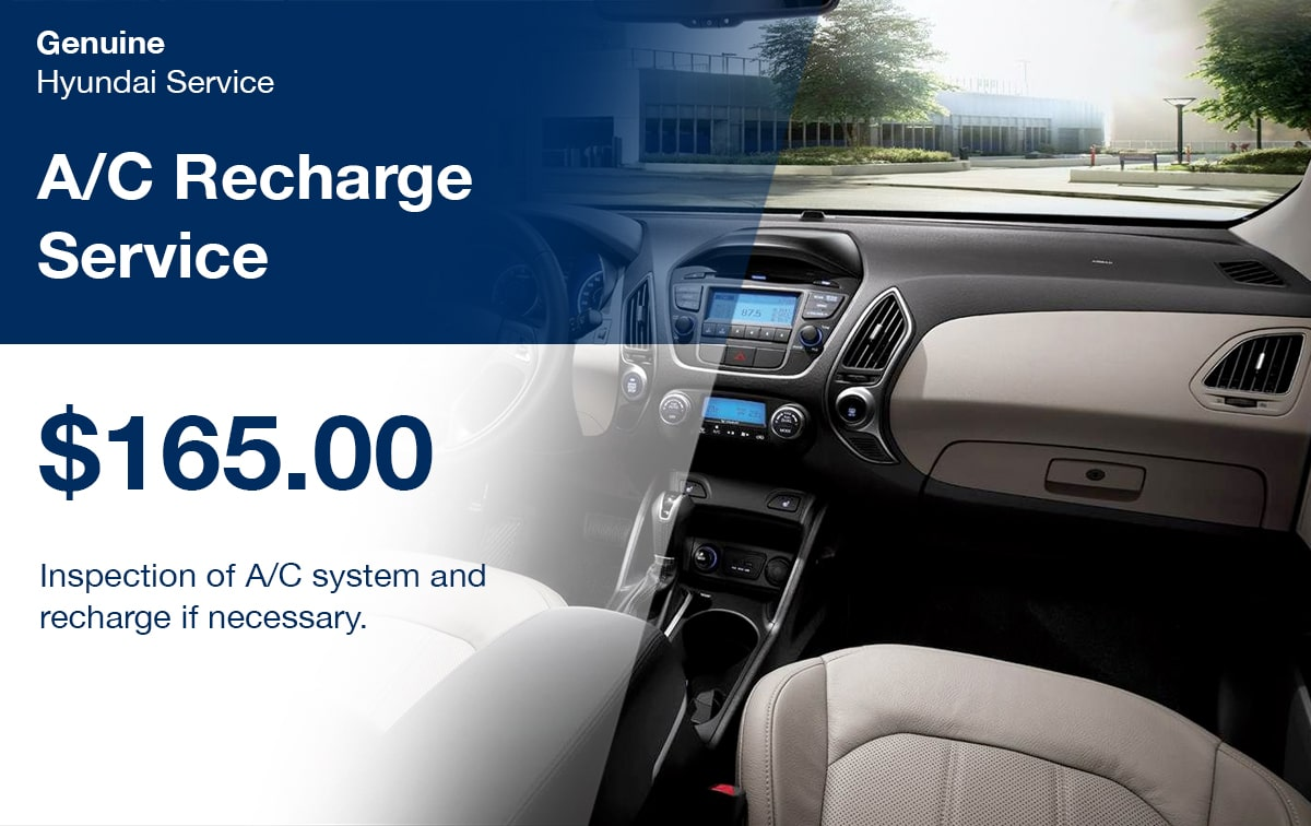 Hyundai A/C Recharge Service Special Coupon