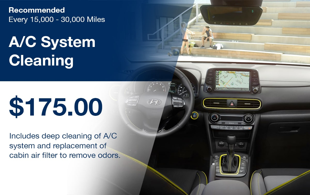 Hyundai A/C System Cleaning Service Special Coupon