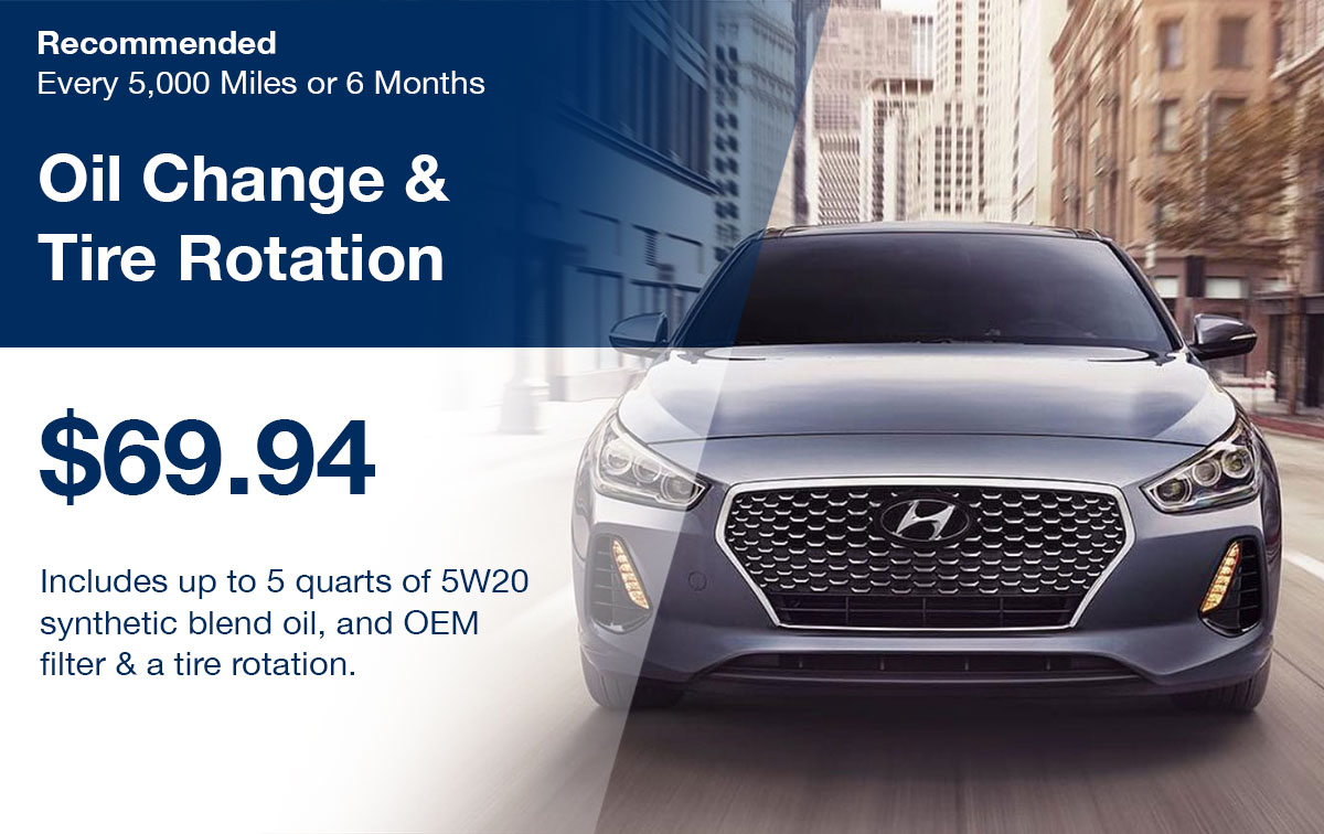 Hyundai Oil Change & Tire Rotation Service Special Coupon