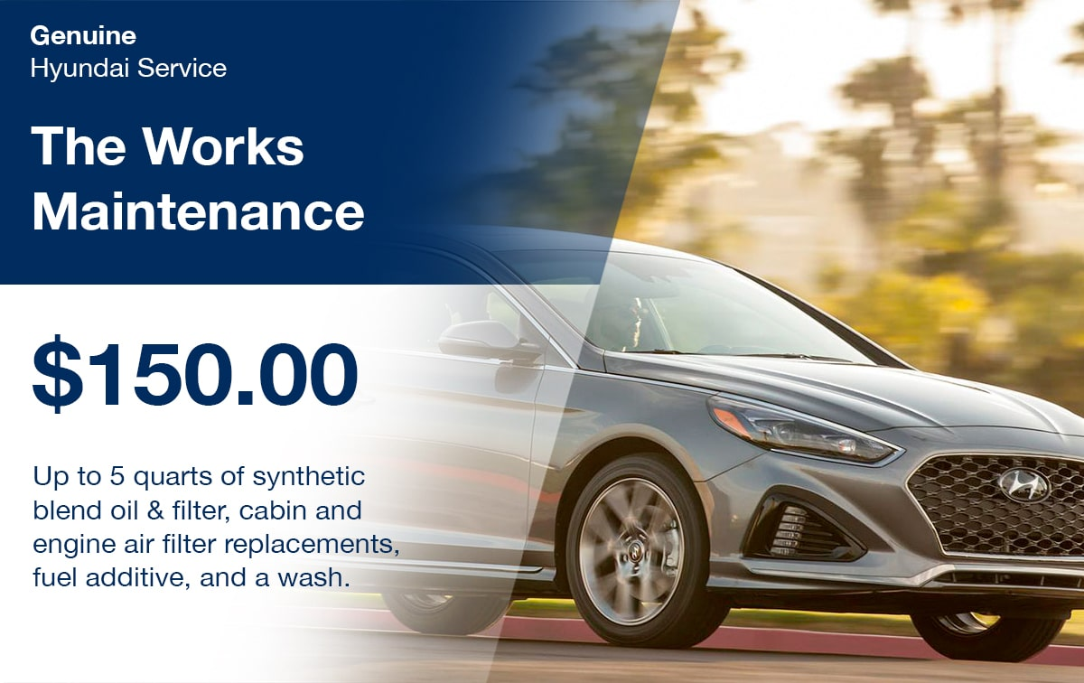 Hyundai The Works Maintenance Service Special Coupon