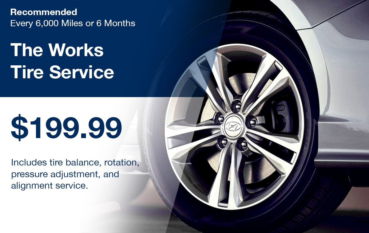 Hyundai The Works Tire Service Special Coupon