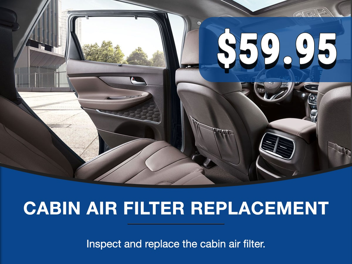 Hyundai Cabin Air Filter Replacement Service Special Coupon