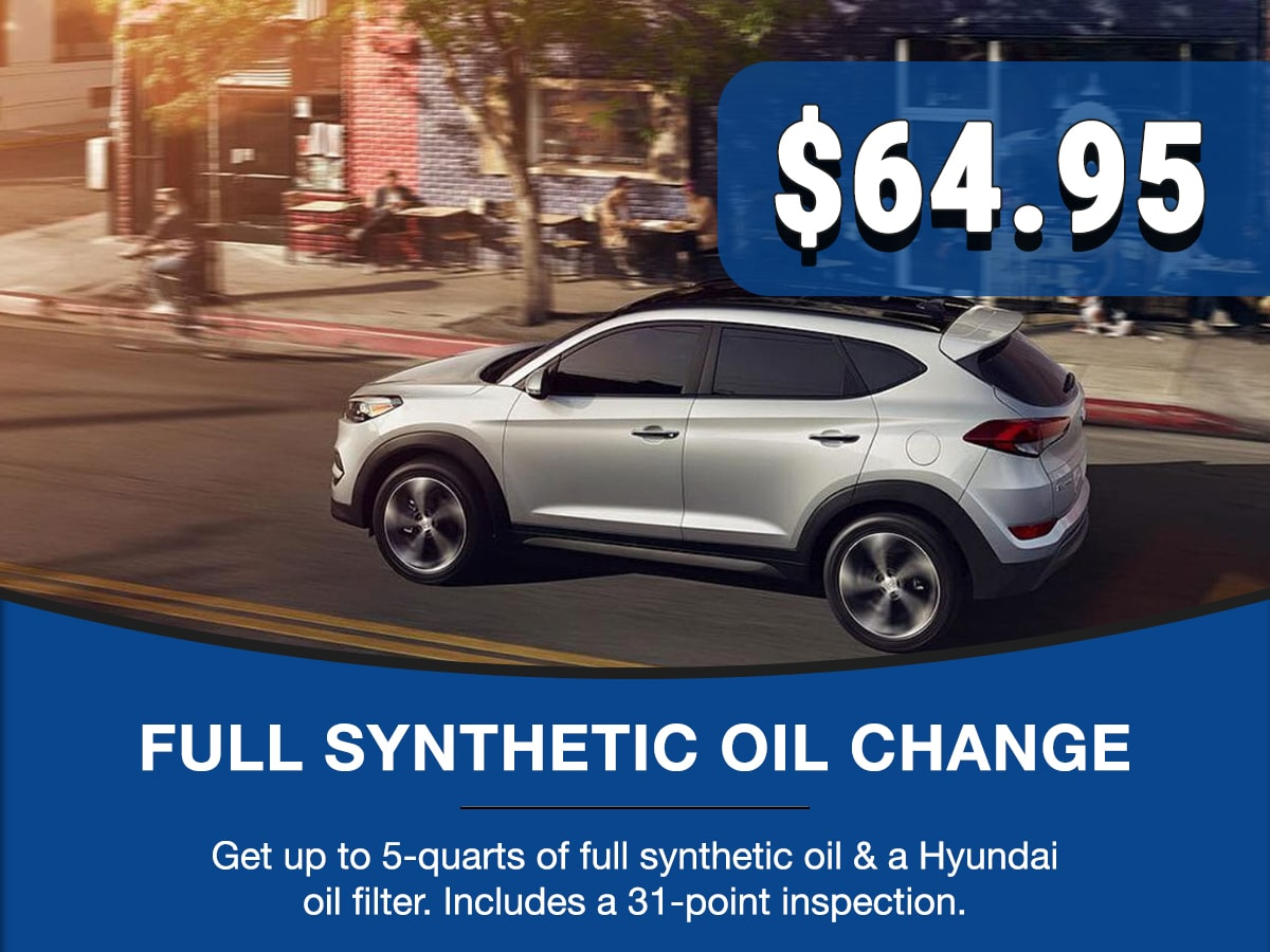 Hyundai Full Synthetic Oil Service Special Coupon