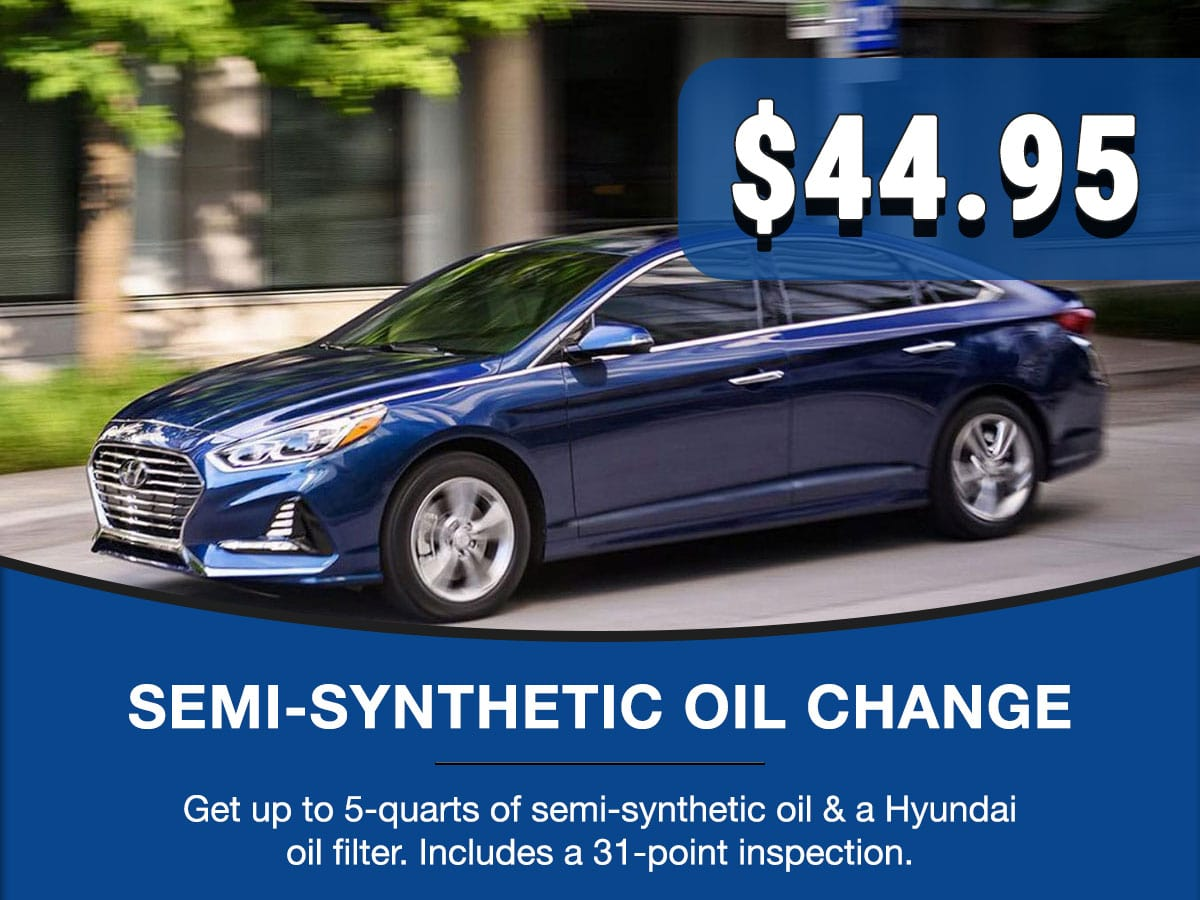 Hyundai Semi-Synthetic Oil Change Service Special Coupon