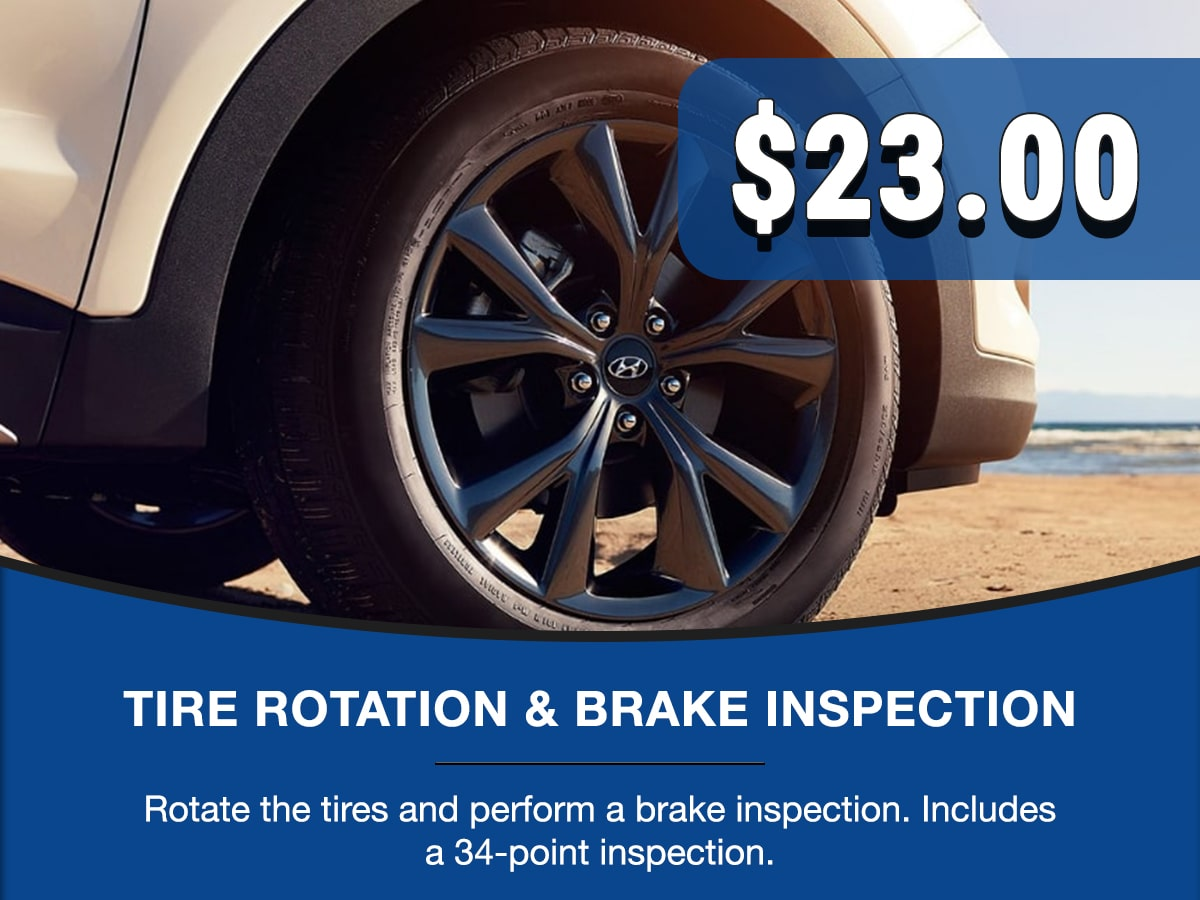 Hyundai Tire Rotation & Brake Inspection Service Special Coupon