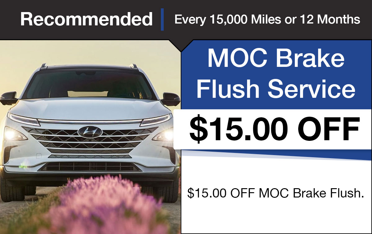 Hyundai Brake Fluid Exchange Service Special Coupon