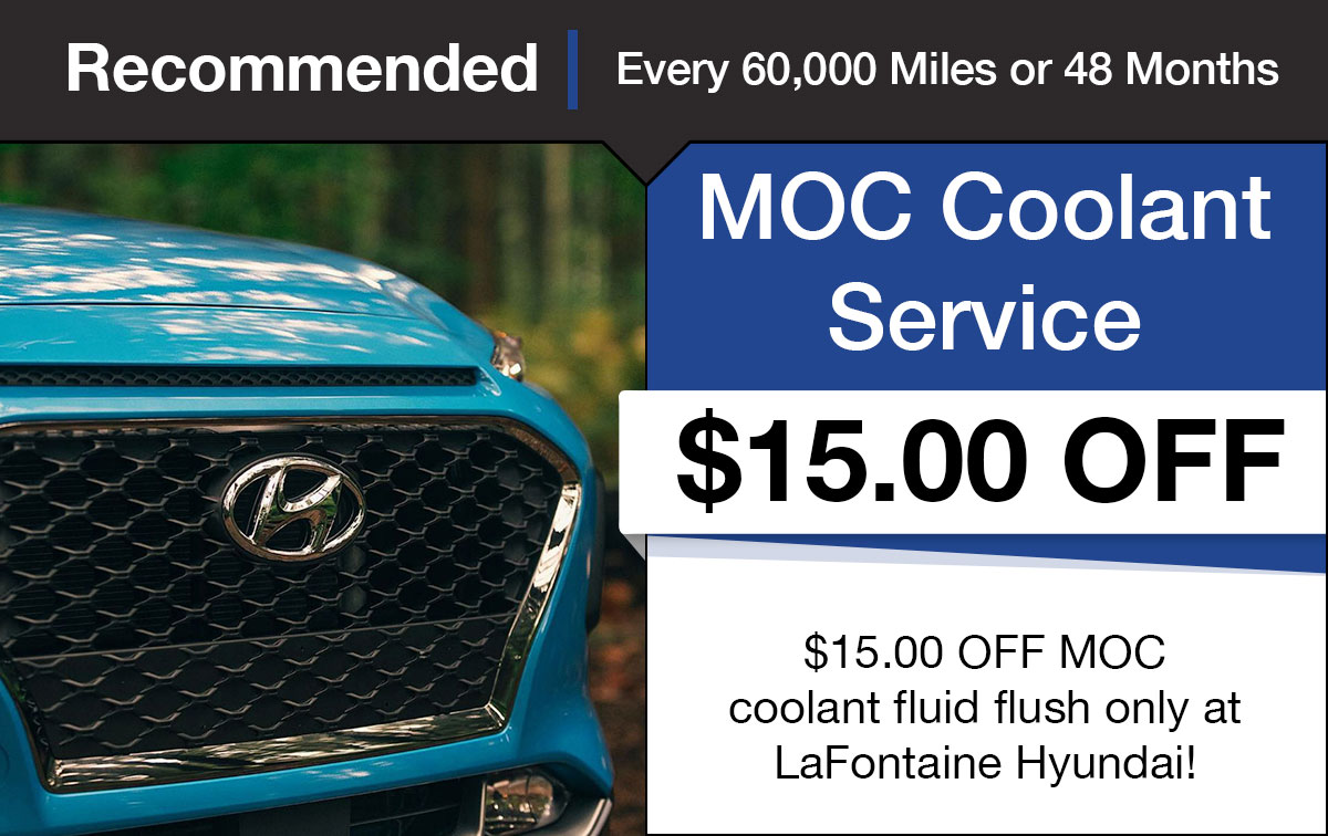 Hyundai Coolant Fluid Exchange Service Special Coupon