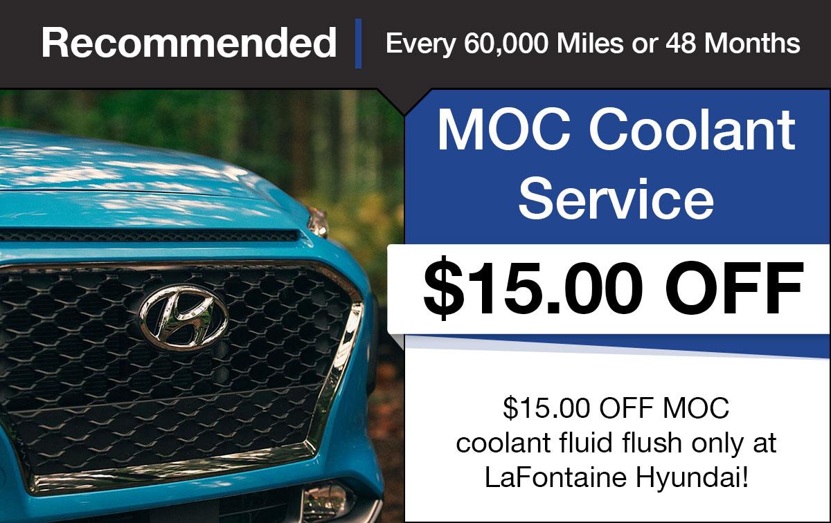 Hyundai Coolant Fluid Exchange Service Special Coupon