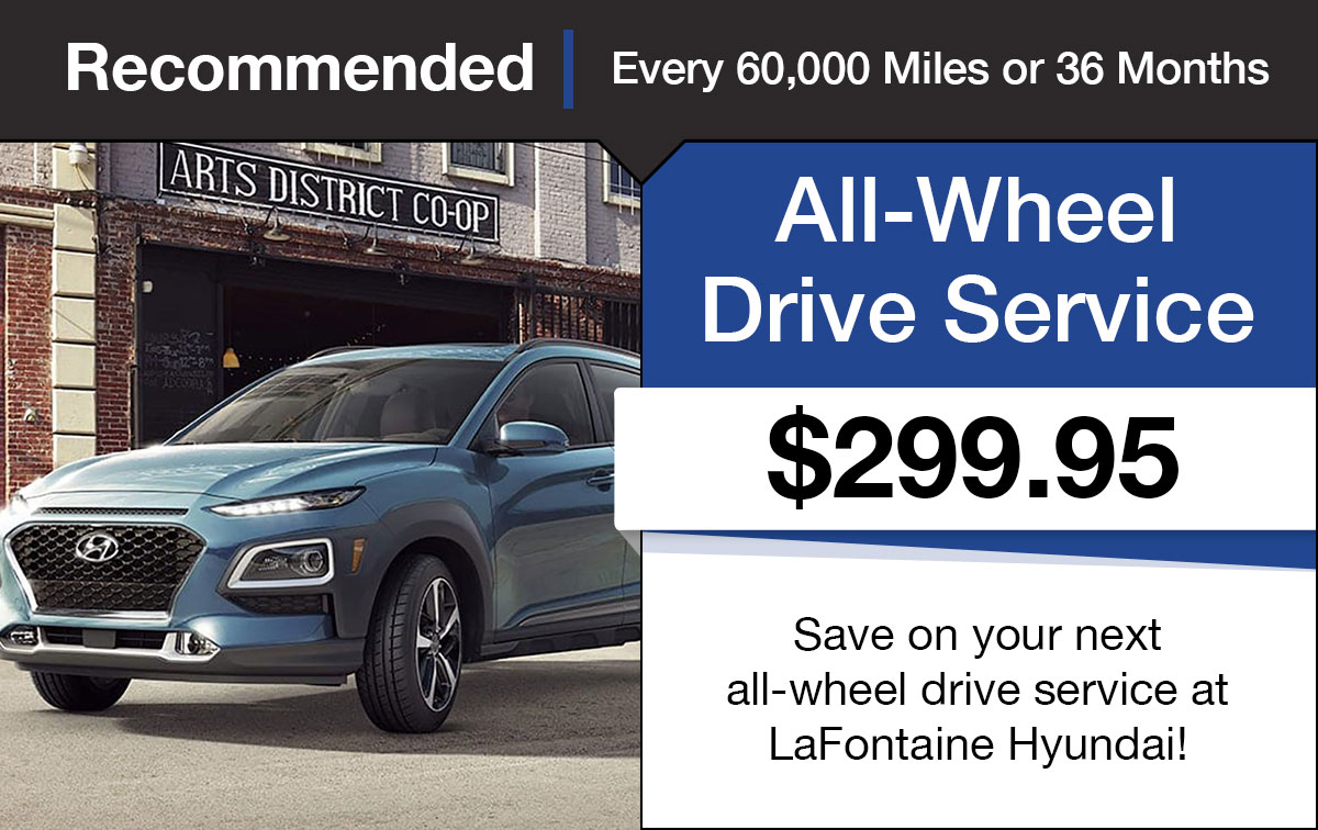 Hyundai All Wheel Drive Service Special Coupon