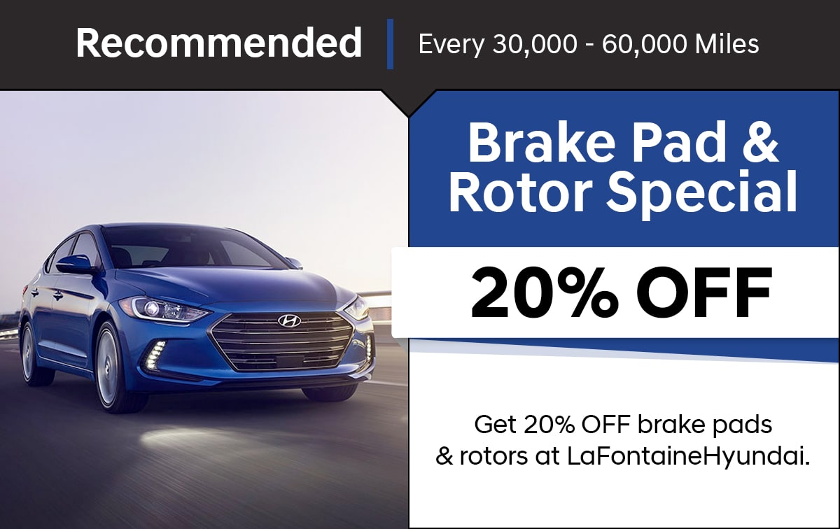 Hyundai Brake Pad & Rotor Special Coupon