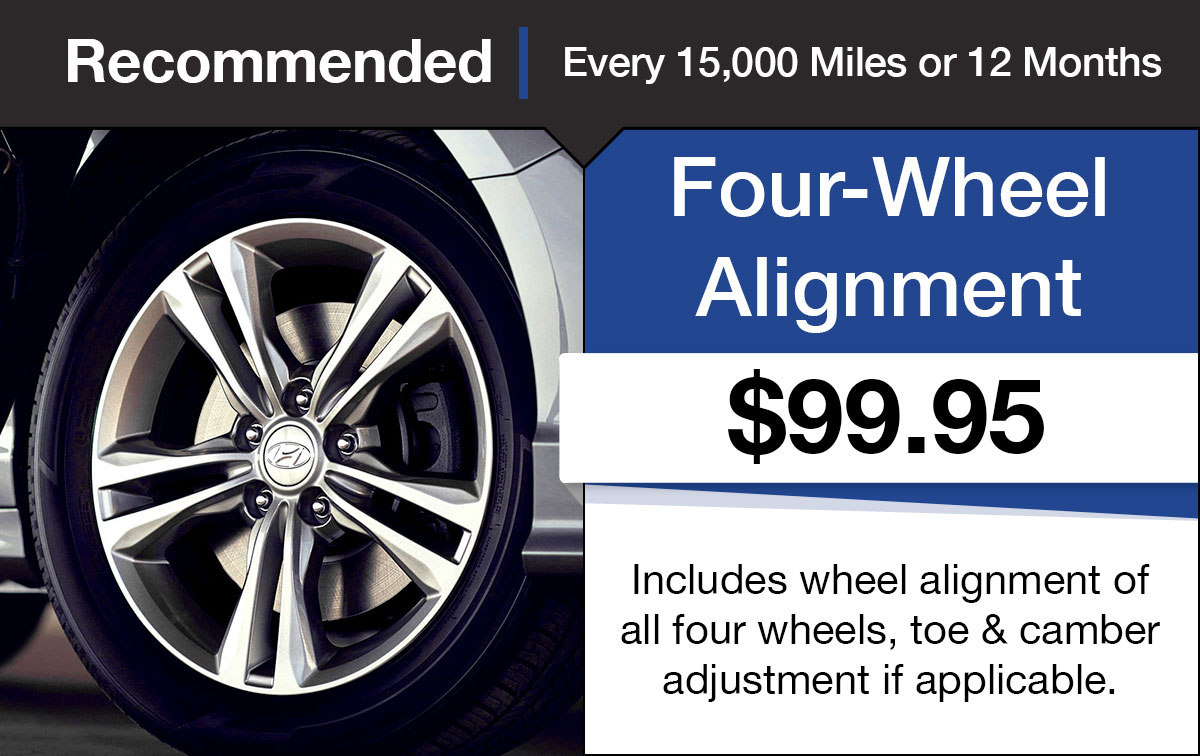 Hyundai Four Wheel Alignment Service Special Coupon
