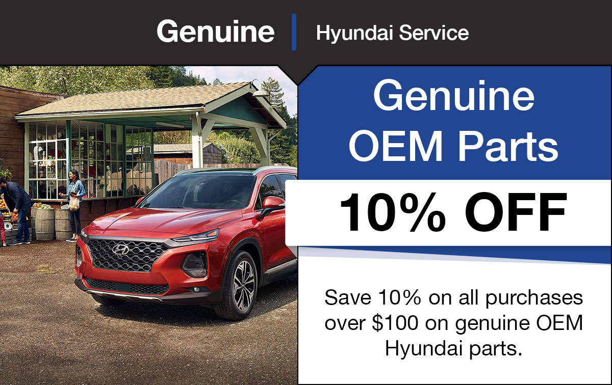 Hyundai OEM Parts Special Coupon