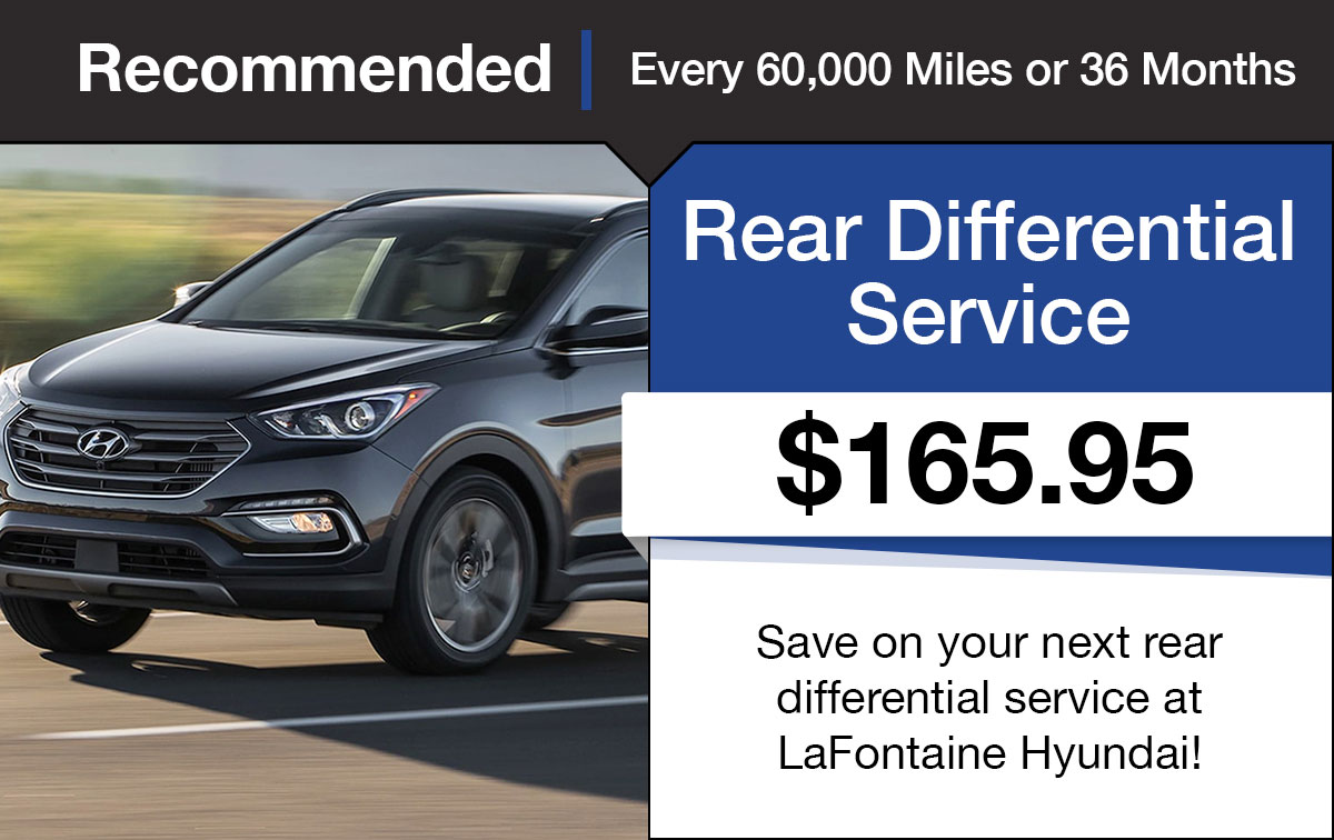 Hyundai Rear Differential Service Special Coupon