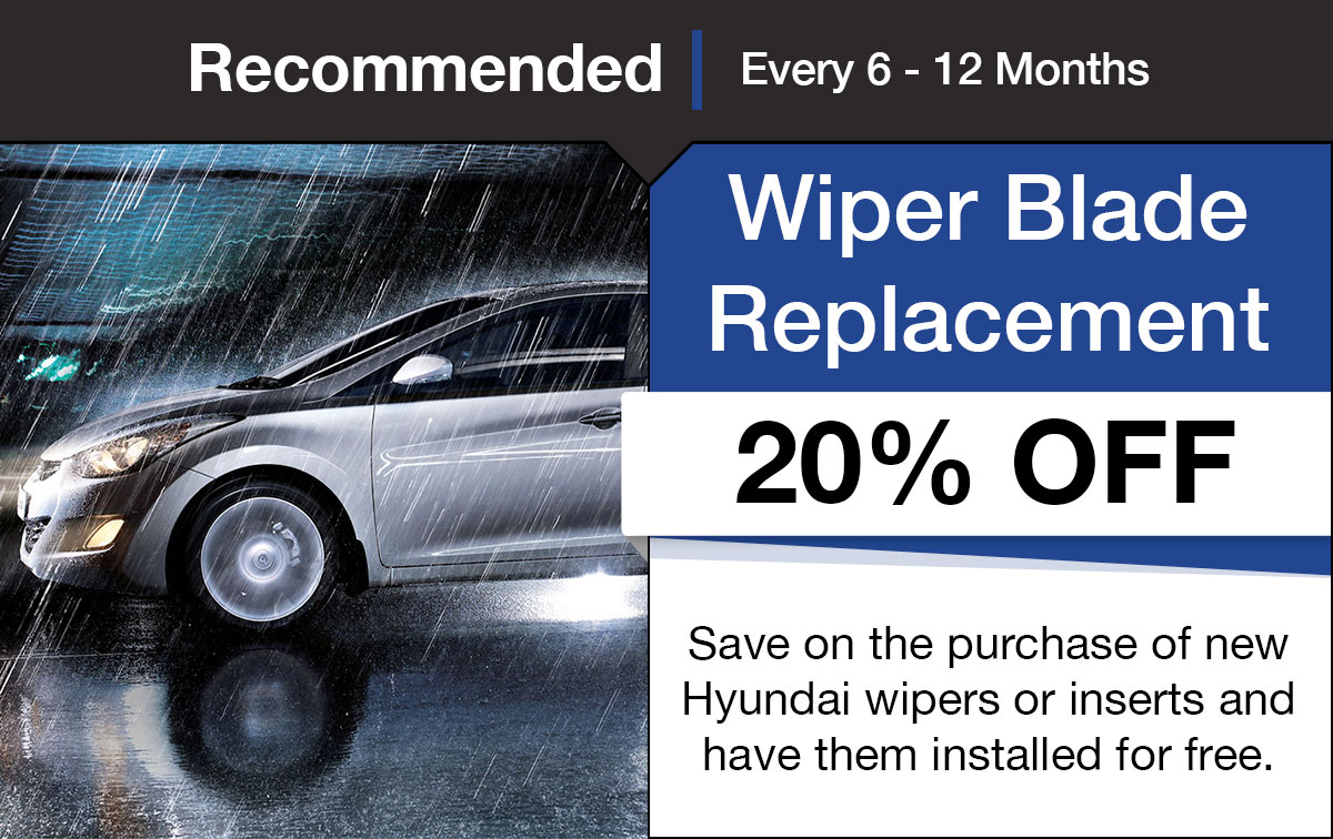 Windshield Wiper Blade Replacement Service Special Coupon