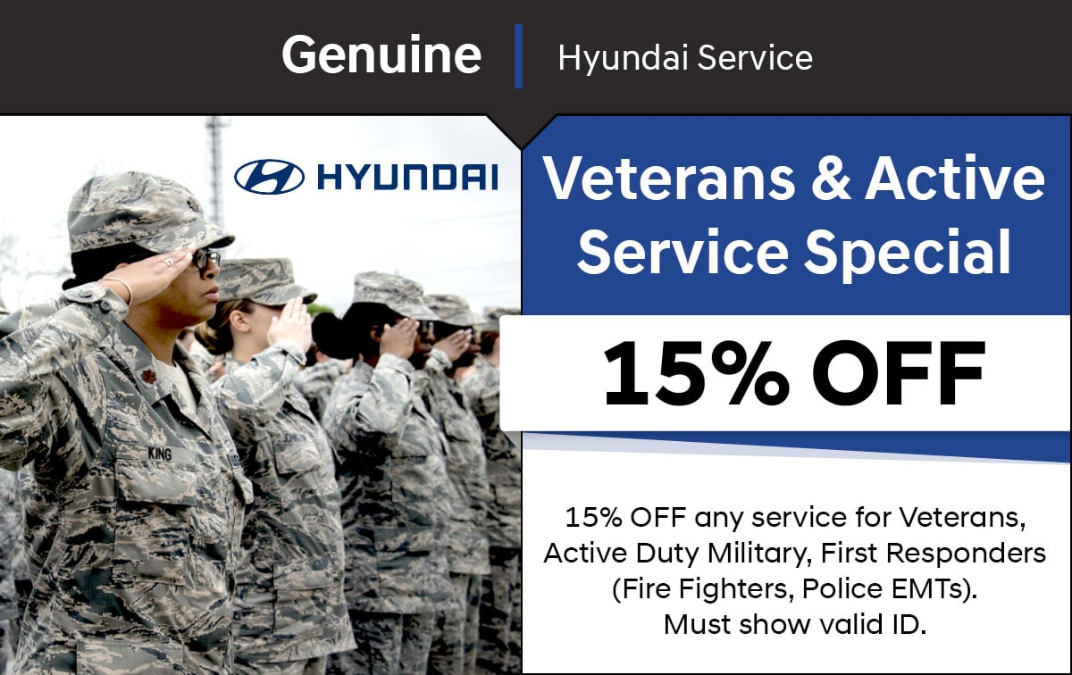 Hyundai Veteran & Active Service Special Coupon