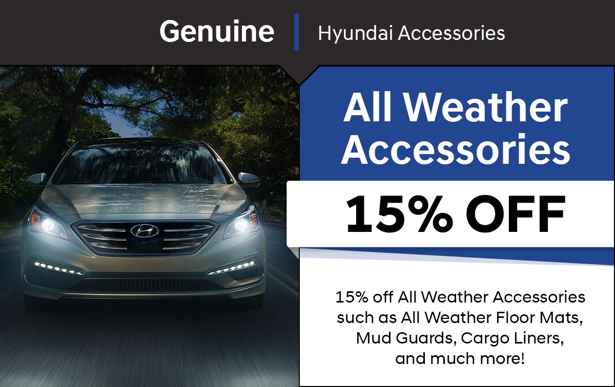 Hyundai All Weather Accessories Special Coupon