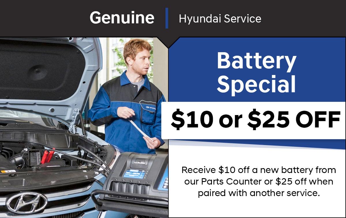 Hyundai Battery Special Coupon