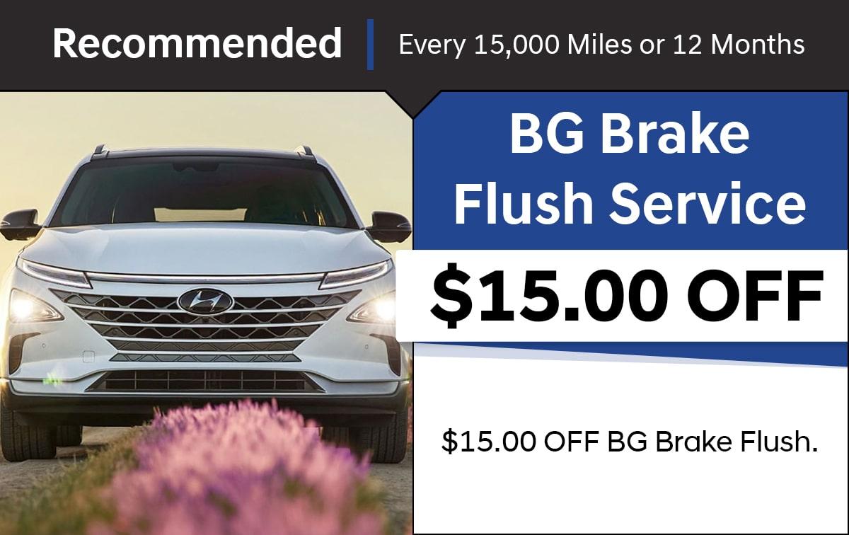 Hyundai Brake Fluid Exchange Service Special Coupon