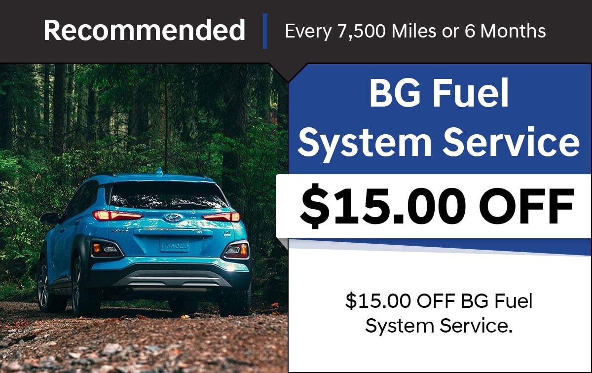 Hyundai Fuel System Service Special Coupon