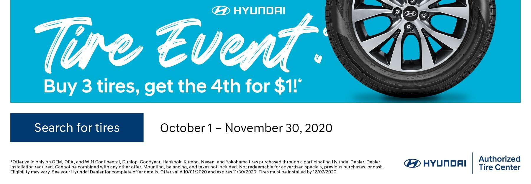 Hyundai Tire Event October 2020