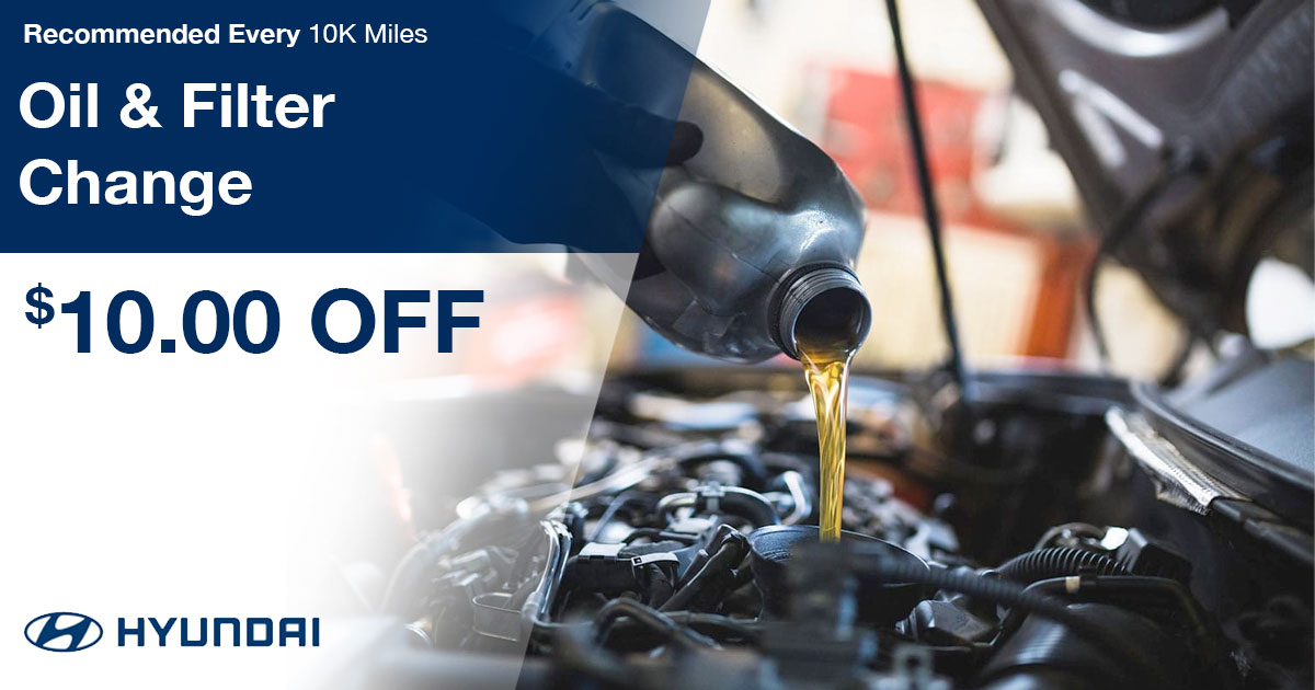 Hyundai Oil & Filter Change Service Special Coupon