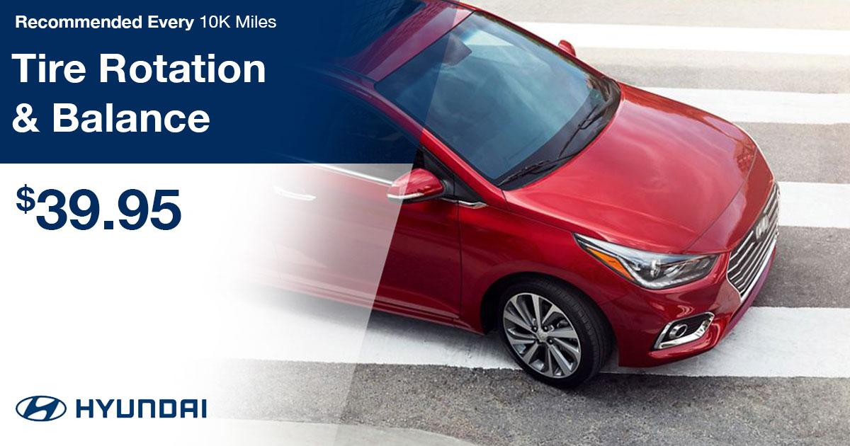Hyundai Tire Balance & Rotation Service Special Coupon
