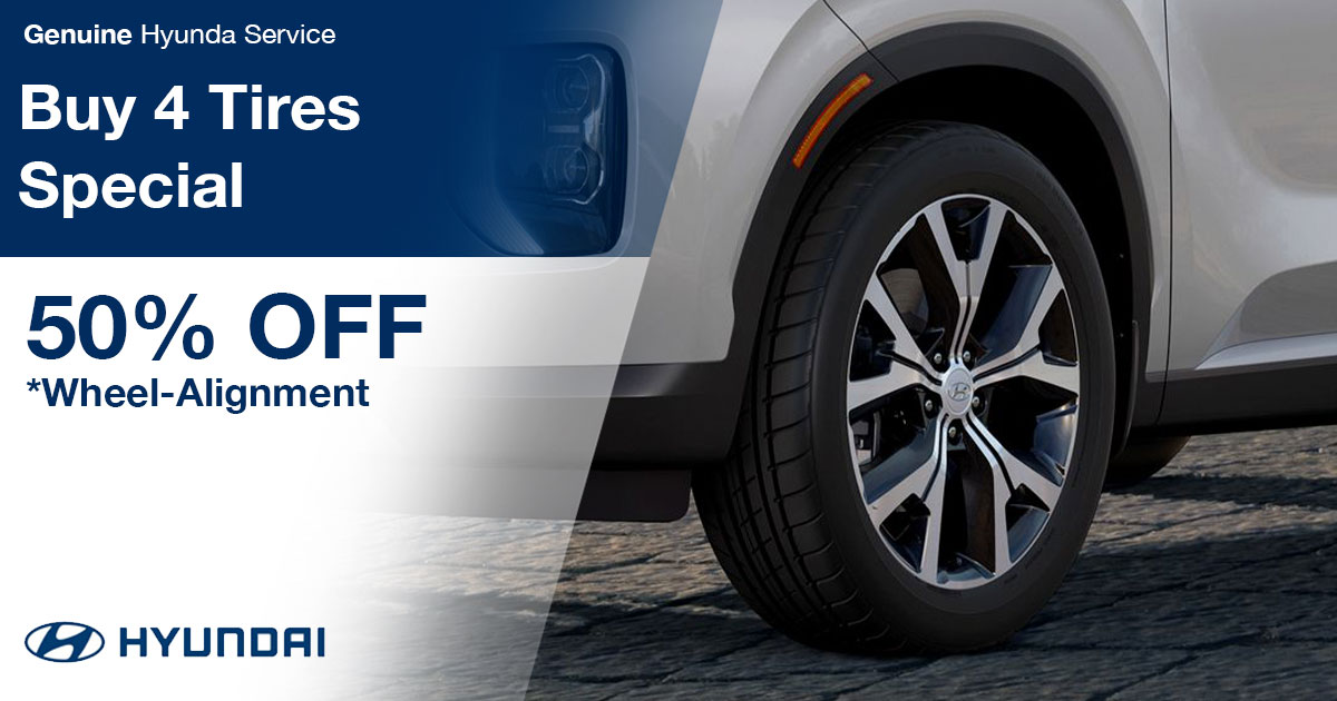 Hyundai Buy 4 Tires Special Coupon